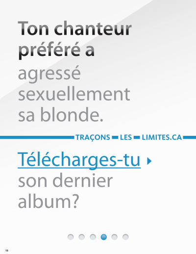 Image of the cover of publication titled  16 - Ton chanteur préféré a agressé sexuellement sa blonde
