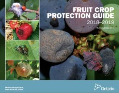 Image of the cover of publication titled  Publication 360E: Fruit Crop Protection Guide, 2018-19