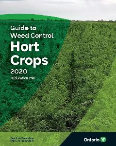Image of the cover of publication titled Publication 75B: Guide to Weed Control, Hort Crops, 2020