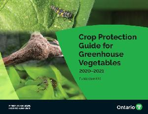 Image of the cover of publication titled Crop Protection Guide for Greenhouse Vegetables 2020-2021 Publication 835E