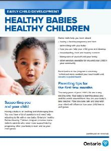 Image of the cover of publication titled Parent Healthy Babies Health Children Fact Sheet