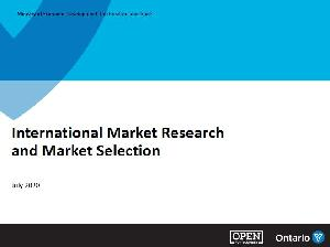 Image of the cover of publication titled International market research and market selection