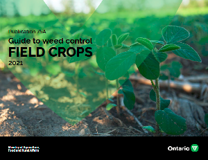 Image of the cover of publication titled (Online) Publication 75A: Guide to Weed Control, Field Crops, 2021