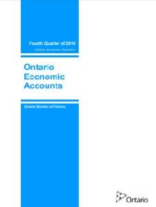 Image of the cover of publication titled  Ontario economic accounts. 2018 Oct-Dec.