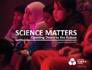 Image of the cover of publication titled  Annual Review / Ontario Science Centre. 2017/2018.