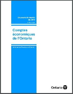 Image of the cover of publication titled Ontario economic accounts. 2019 Apr-June.