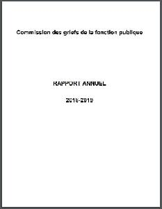 Image of the cover of publication titled  Annual report / Public Service Grievance Board. 2018/19.