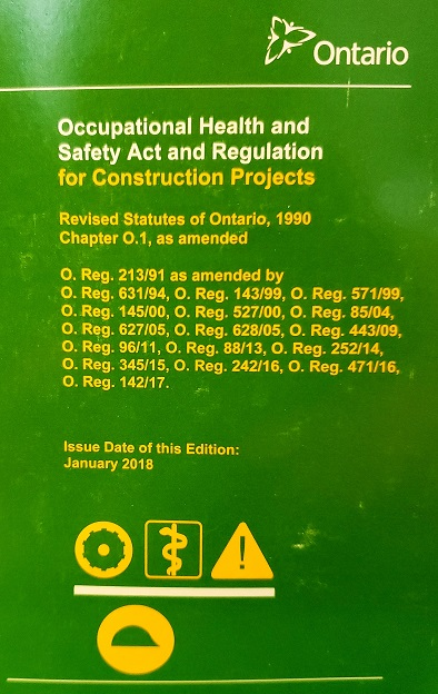 Occupational Health and Safety Act and R - Publications ...