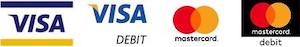 Publications Ontario accepts payment with Visa Credit or Debit card , and Mastercard Credit or Debit card.